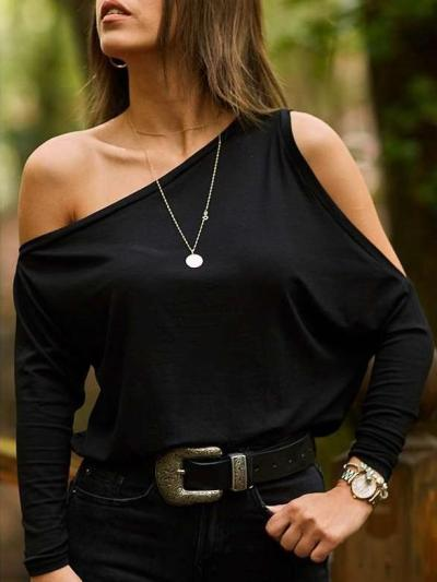 Single Off Shoulder Long sleeve T-Shirts