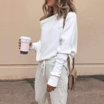 Sexy Off shoulder Batwing sleeve T-Shirts