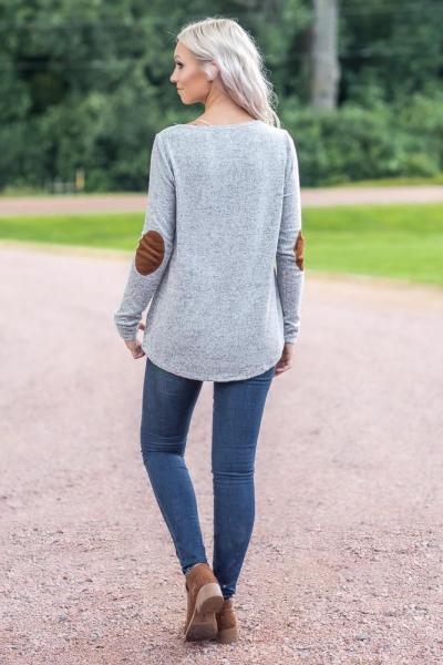 Fashion Women  Long sleeve Round neck Sweatshirts