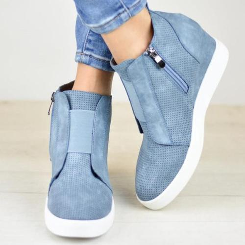 Leisure inside high single shoes elastic large size sneakers