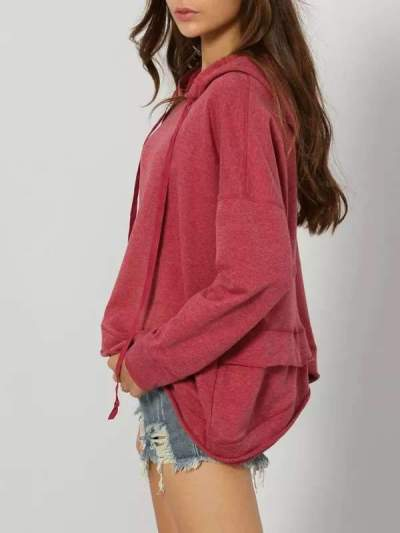 Fashion Long sleeve Irregular Hoodies Sweatshirts