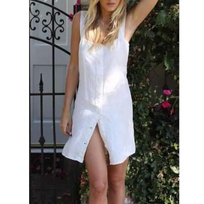 Fashion Pure Vest Blouse Shift Dresses
