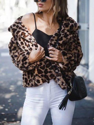 Vintage Leopard Print Woman Short Jacket