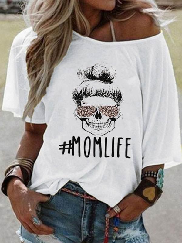 Women printed long sleeve casual short sleeve T-shirts
