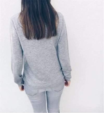 Fashion Pure V neck Lace Cardigan T-Shirts