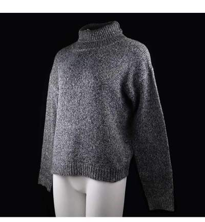Fashion Pure High collar Knit Long sleeve Sweaters