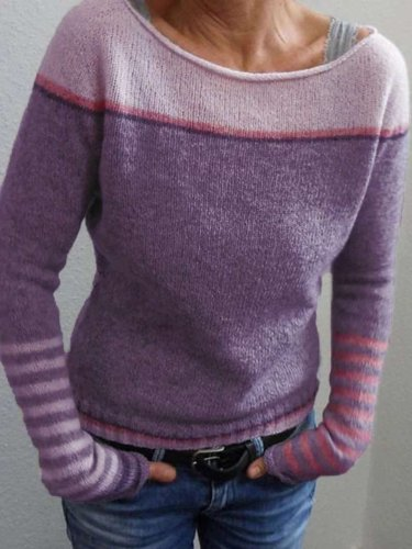 Fashion Round neck Long sleeve Sweaters