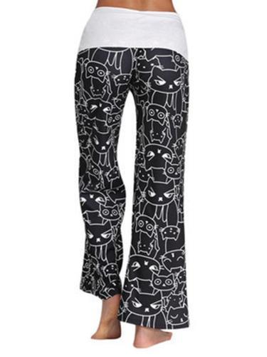 Cartoon Cart Print Woman Long Comfy Pants