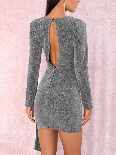 Sexy Long sleeve open back party bodycon dresses