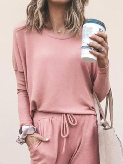 Casual Round neck long sleeve long suits