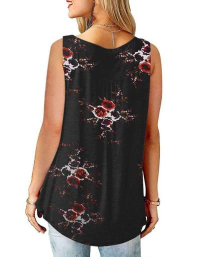 Casual Loose Print Vest T-Shirts