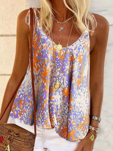 Summer floral halter vests for women