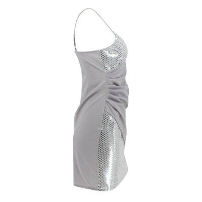 Sexy V neck Sleeveless Gored Paillette Bodycon Dresses