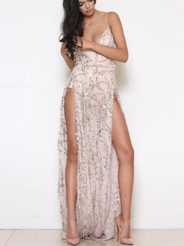 Sexy Vent Backless Evening Dresses