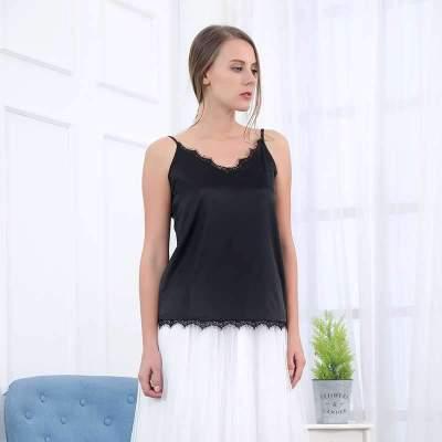 Fashion Pure V neck Lace Vests