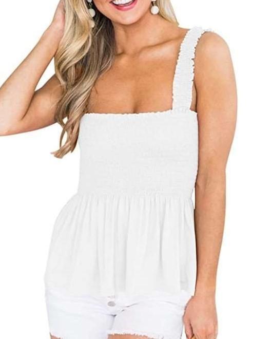 Fashion Pure Plicated Falbala Vests