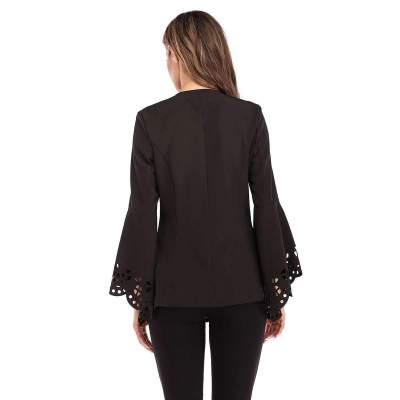 Fashion Pure Hollow out Mandarin sleeve V neck Coats
