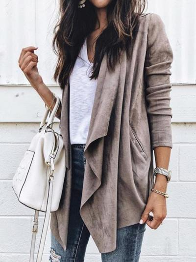 Casual women big lapel trench coats