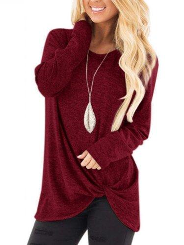 New Plain Long Sleeve Autumn Woman T-shirts