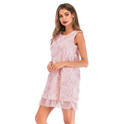 Lace Tassels Pure Shift Dresses