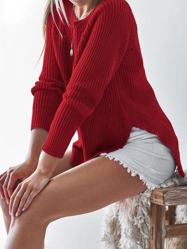 Loose Long Sleeve More Colors Woman Sweater Tops