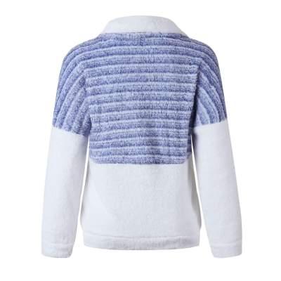 Fashion Zipper Gored Lapel Plush Coats