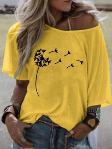 Casual Print Round neck Half sleeve T-Shirts