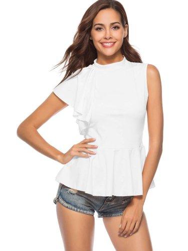 Fashion Irregular Sleeveless  Falbala T-Shirts