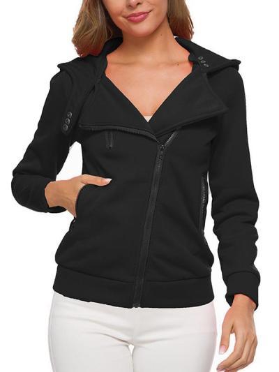 Casual Zipper Long Sleeve Sweatshirts