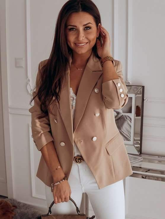 Fashion Pure Tee Double-breasted Blazer