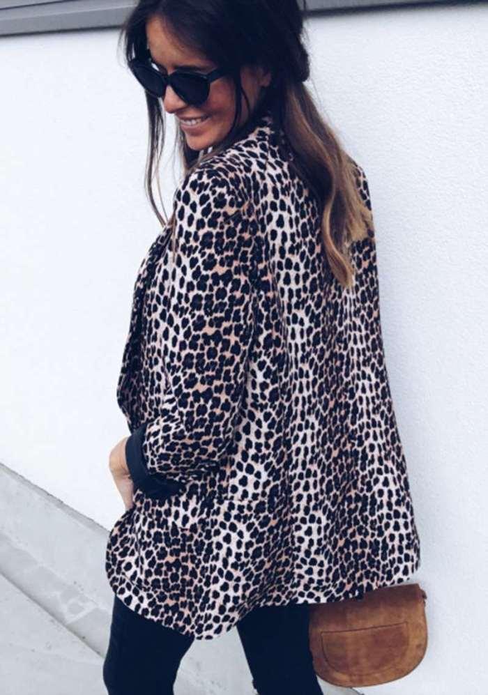 Sexy Print Long sleeve Blazer