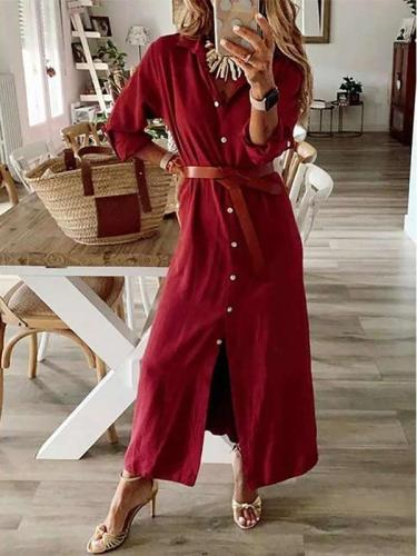 Fashion Fastener Long sleeve Skirt Maxi Dresses
