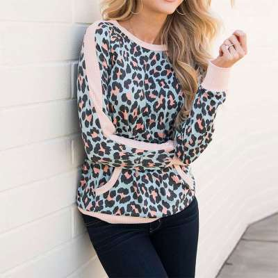 Fashion Print Long sleeve Round neck T-Shirts