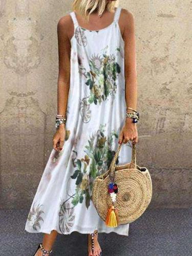 Women Summer Floral Vintage Shift Dresses
