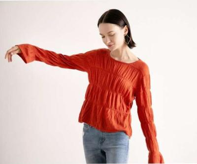 Fashion Round neck Long sleeve Knit T-Shirts