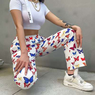 Fashion Casual Butterfly print Yoga Pants
