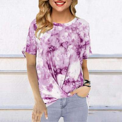 Fashion Round neck Print Short sleeve T-Shirts