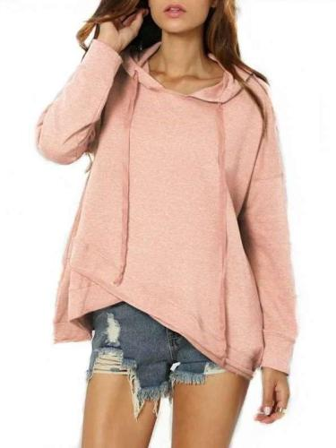 Fashion Pure Irregular Long sleeve Hoodies & Sweatshirts
