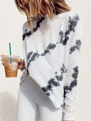 Fashion Print Long sleeve Round neck T-Shirts