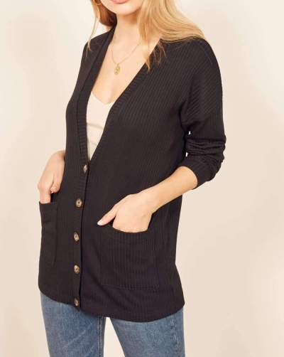 Fashion Plus Knit Long sleeve Cardigan