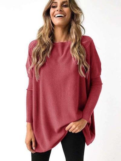Fashion Pure Round neck Batwing sleeve T-Shirts
