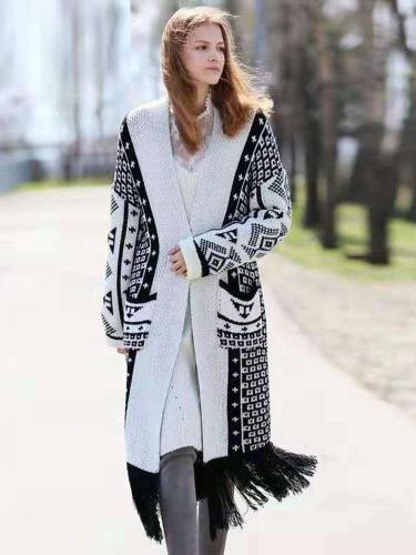 Fashion Plus Purl Long sleeve Coats