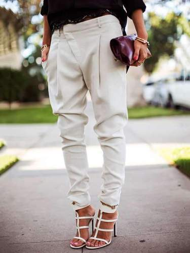 Casual High Waist Harlan Tight Trousers long Pants