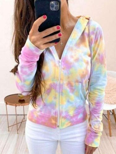 Fashion Print Long sleeve Hoodies Sweatshirts