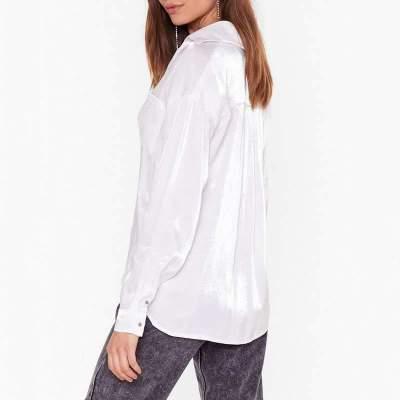 Casual Loose Lapel Long sleeve Blouses
