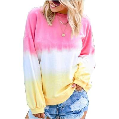 Loose Plus Print Cotton Long sleeve  Sweatshirts