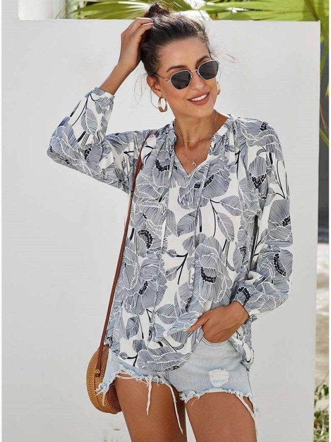Fashion Loose Print Long sleeve Sweatshirts