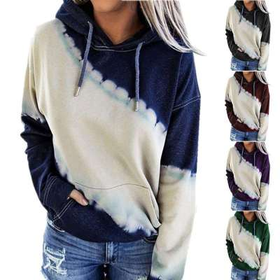 Fashion Gored print Long sleeve Hoodies Sweatshirts