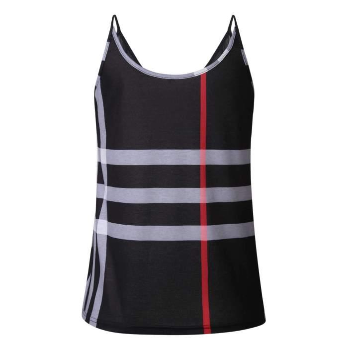 Fashion Backless Print Grenadine Vests