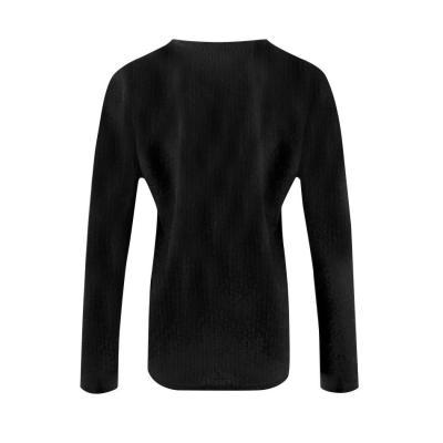 Fashion Button Long Sleeve Plain T-Shirts